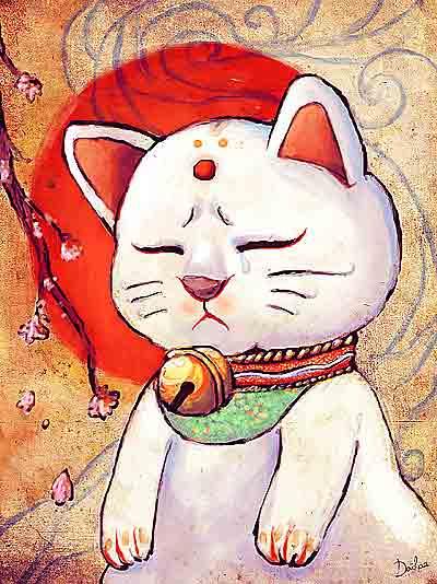 イラスト「招き猫の涙」