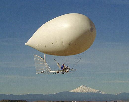 人力飛行船 ギャラガー  ペダルでこぐ飛行船