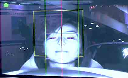 運転中の居眠り検出画面