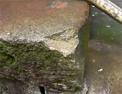石の角の欠け