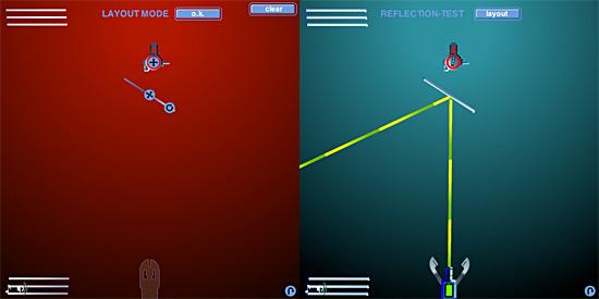 反射レーザー砲ゲーム